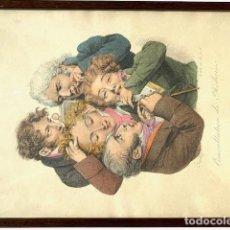 Arte: LITOGRAFIA ORIGINAL DE LOUIS LEOPOLD BOILLY , SIGLO XIX ,. Lote 191340580