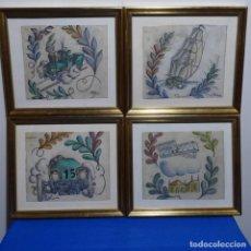 Arte: 4 DIBUJOS DE FELIU ELIAS I BRACONS (1878-1948), APA O DE ALGÚN HERMANO TAMBIÉN PODRÍA SER.. Lote 191418495