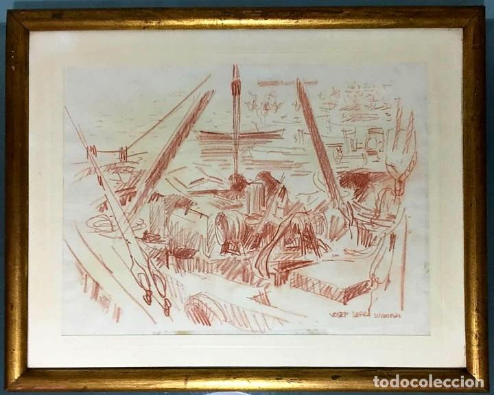 JOSEP SERRA LLIMONA (AMETLLA DEL VALLÉS 1927) DIBUJO FIRMADO (Arte - Dibujos - Contemporáneos siglo XX)