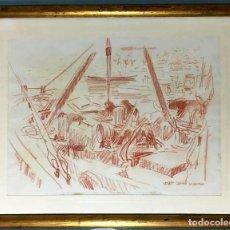 Arte: JOSEP SERRA LLIMONA (AMETLLA DEL VALLÉS 1927) DIBUJO FIRMADO. Lote 191465936