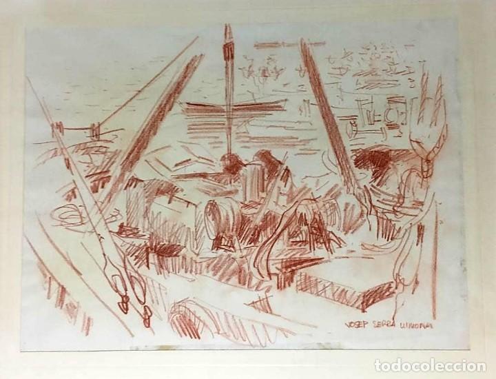 Arte: JOSEP SERRA LLIMONA (Ametlla del Vallés 1927) Dibujo firmado - Foto 2 - 191465936