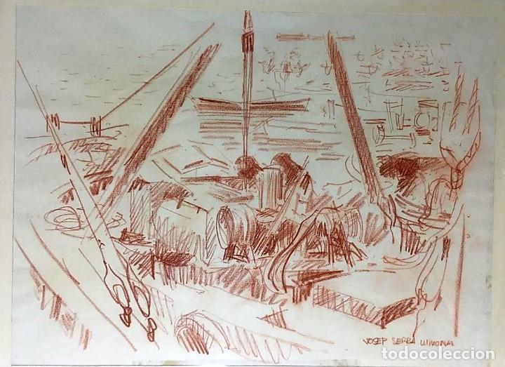 Arte: JOSEP SERRA LLIMONA (Ametlla del Vallés 1927) Dibujo firmado - Foto 3 - 191465936