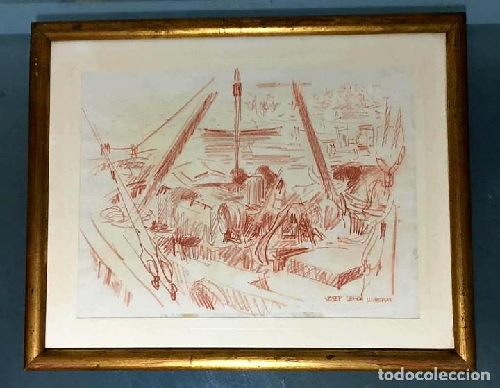 Arte: JOSEP SERRA LLIMONA (Ametlla del Vallés 1927) Dibujo firmado - Foto 5 - 191465936