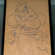 Arte: DIBUJO DE ROMÀ BONET GINÉ (SAN SEBASTÍIÁN 1944) HIJO DEL PINTOR BARCELONÉS ROMÀ BONET I SINTES. Lote 191471625