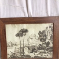 Arte: MUY ANTIGUO CUADRO EN LAPIZ!. Lote 191495223