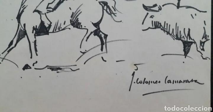 Arte: DIBUJO DE JOAN COLOMER CAMARASA (GIRONA 1968) TAUROMAQUIA - Foto 2 - 191531422