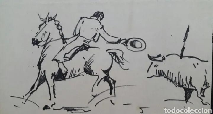Arte: DIBUJO DE JOAN COLOMER CAMARASA (GIRONA 1968) TAUROMAQUIA - Foto 3 - 191531422