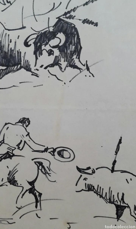 Arte: DIBUJO DE JOAN COLOMER CAMARASA (GIRONA 1968) TAUROMAQUIA - Foto 5 - 191531422