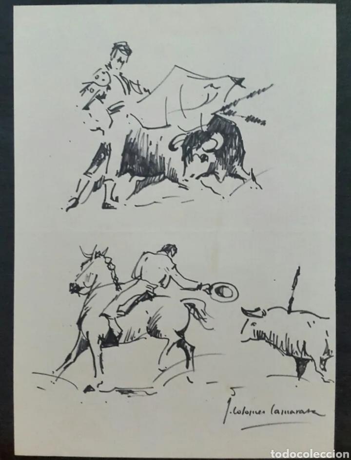 DIBUJO DE JOAN COLOMER CAMARASA (GIRONA 1968) TAUROMAQUIA (Arte - Dibujos - Contemporáneos siglo XX)