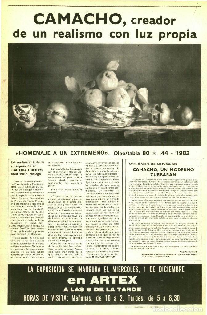 Arte: Magnífico Cuadro de Camacho. Firmado - Foto 8 - 191577437