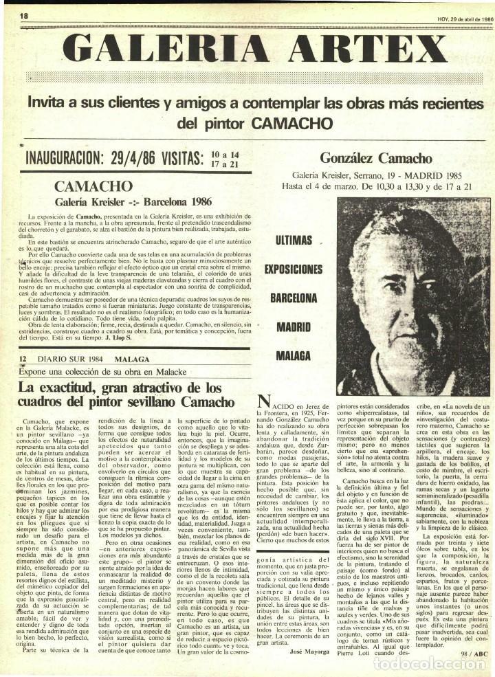 Arte: Magnífico Cuadro de Camacho. Firmado - Foto 9 - 191577437