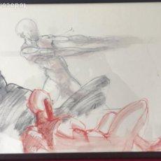 Arte: DIBUJO A CERAS SOBRE PAPEL DEL ARTISTA JAPONÉS YASUYUKI. . Lote 191600252