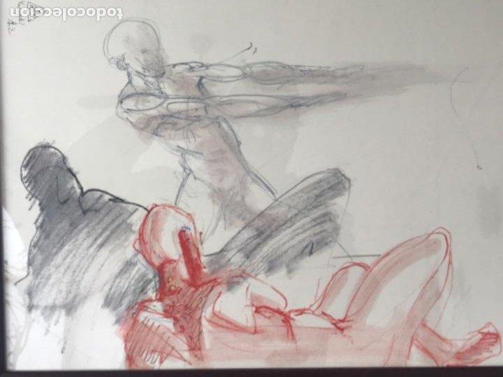 Arte: DIBUJO A CERAS SOBRE PAPEL DEL ARTISTA JAPONÉS YASUYUKI. - Foto 4 - 191600252