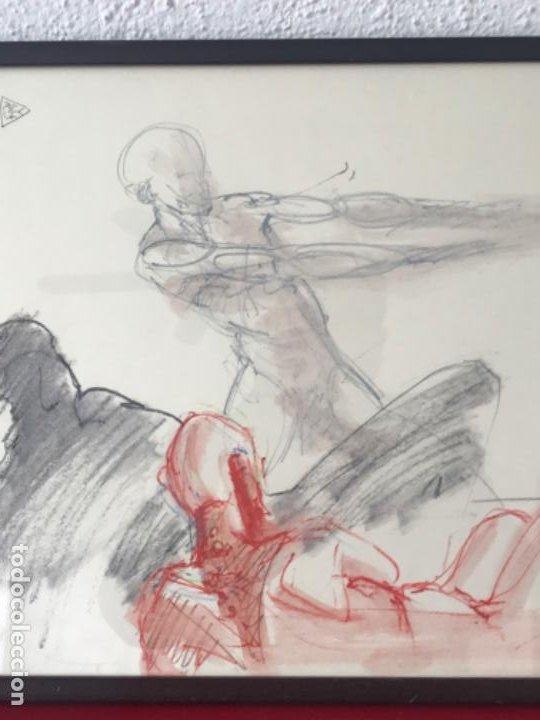 Arte: DIBUJO A CERAS SOBRE PAPEL DEL ARTISTA JAPONÉS YASUYUKI. - Foto 5 - 191600252