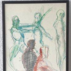 Arte: DIBUJO A CERAS SOBRE PAPEL DEL ARTISTA JAPONÉS YASUYUKI. . Lote 191600426