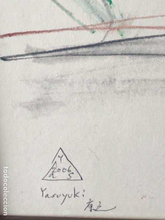 Arte: DIBUJO A CERAS SOBRE PAPEL DEL ARTISTA JAPONÉS YASUYUKI. - Foto 3 - 191600426