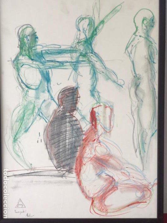 Arte: DIBUJO A CERAS SOBRE PAPEL DEL ARTISTA JAPONÉS YASUYUKI. - Foto 4 - 191600426