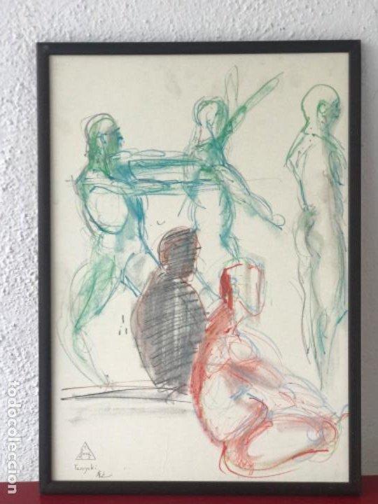 Arte: DIBUJO A CERAS SOBRE PAPEL DEL ARTISTA JAPONÉS YASUYUKI. - Foto 5 - 191600426