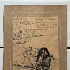 Arte: ANTONIO ALCALDE MOLINERO - ¡LO MEJOR DE LA TARDE! MARCIAL. Lote 191607131