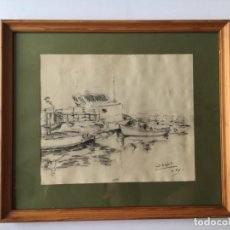 Arte: JOSEP BESTIT I CARCASONA - BARCAS. Lote 191617826