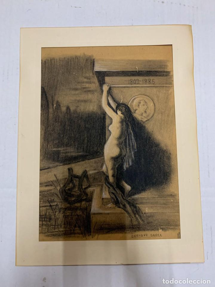 ENRIQUE SERRA Y AUQUE - ALEGORIA (Arte - Dibujos - Modernos siglo XIX)