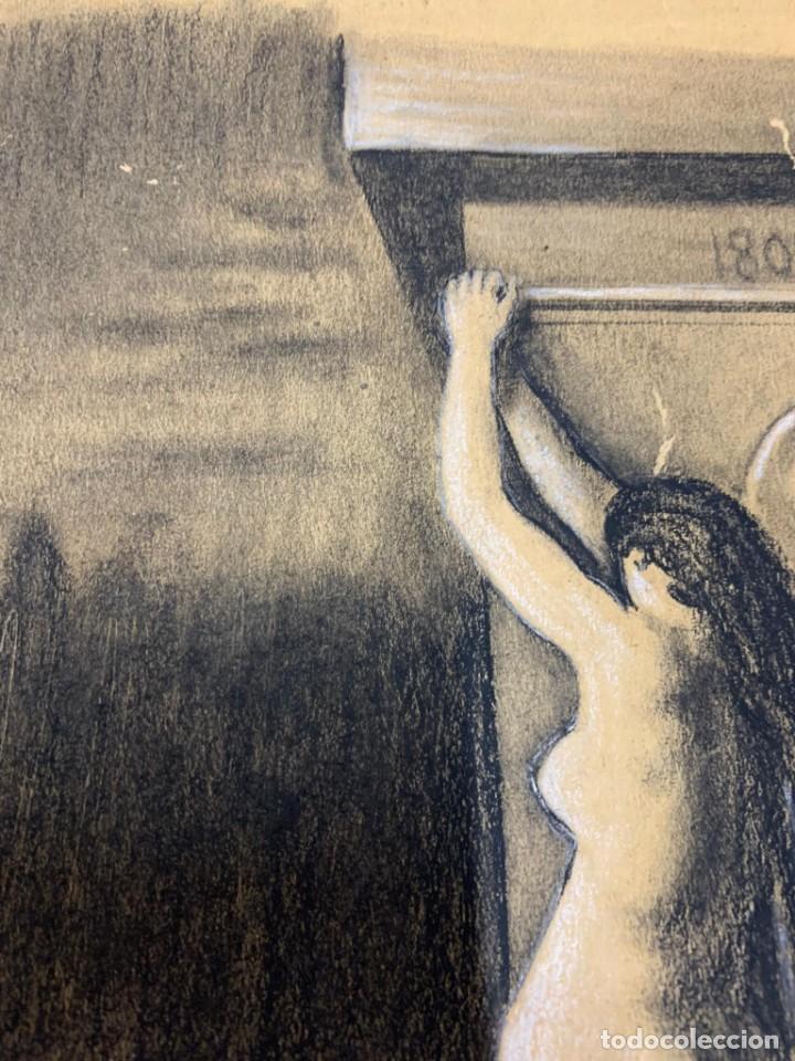 Arte: ENRIQUE SERRA Y AUQUE - ALEGORIA - Foto 3 - 191618946