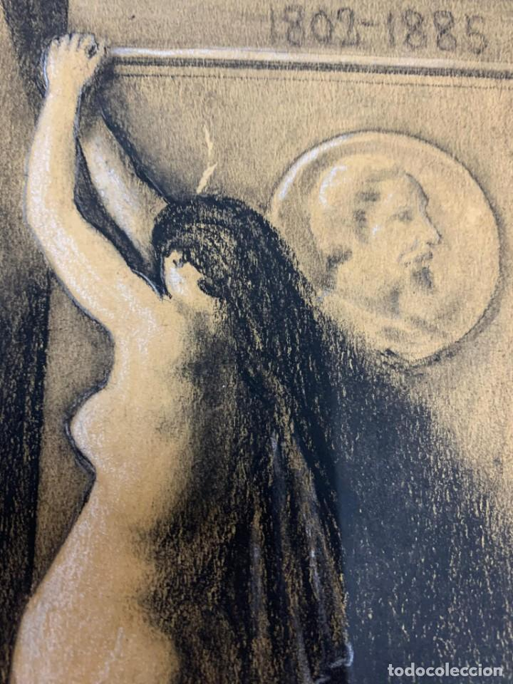 Arte: ENRIQUE SERRA Y AUQUE - ALEGORIA - Foto 4 - 191618946