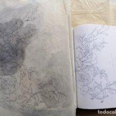 Arte: DISEÑOS ORIGINALES Y LIBRO,RECULL DE DIBUIXOS DE NEUS VILA , L'ART DE BRODAR. PEPITA CASTELLVÍ. 1984. Lote 191639460