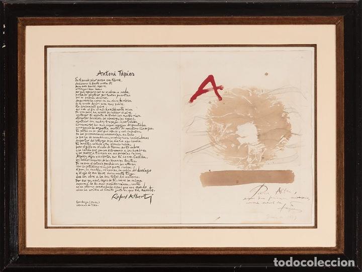 ANTONI TÀPIES ORIGINAL 1979 ACRÍLICO, ACUARELA Y LÁPIZ CERTIFICADO DE AUTENTICIDAD COMISIÓN TAPIES (Arte - Dibujos - Contemporáneos siglo XX)