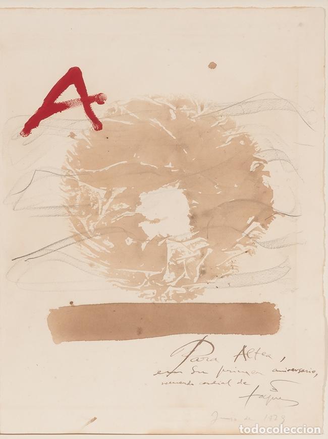 Arte: ANTONI TÀPIES Original 1979 ACRÍLICO, ACUARELA Y LÁPIZ CERTIFICADO DE AUTENTICIDAD COMISIÓN TAPIES - Foto 6 - 178906457