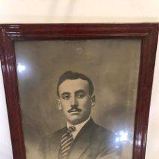 Arte: ANTIGUO RETRATO FIRMADO A CARBONCILLO. Lote 191736858