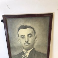 Arte: ANTIGUO RETRATO A CARBONCILLO SIGLO XIX. Lote 191741085