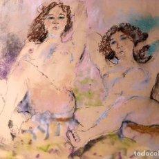 Arte: XAVIER BLANCH PLA (BCN 1918-MADRID 1999) DIDUJO AL PASTEL CON DESNUDOS FEMENINOS. Lote 191883651
