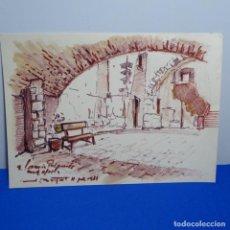 Arte: DIBUJO ILEGIBLE DE BUEN TRAZO.DEDICADO.. Lote 192020685