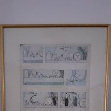 Arte: PRAT UBACH. DIBUJO ORIGINAL. ENMARCADO.. Lote 192033103