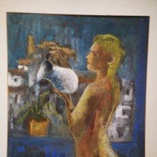Arte: JOSE GARCIA TORRES (VALENCIA 1934), PASTEL FEMENINO 65X50CM. Lote 192068336