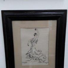 Arte: PILAR LOPEZ -CHUFLAS -PINTOR RAMON AULINA DE MATA AÑO 1961. Lote 192092382