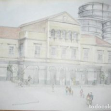 Arte: ANTIGUO DIBUJO DE LEIVA PINTOR ARQUITECTO OBRA ORIGINAL FIRMADA ESTACION DE TREN VALENCIA ?. Lote 192203040