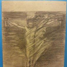 Arte: ORIGINAL. OBRA DE FRANCESC GASSÓ. ARTE RELIGIOSO. MEDIDAS 14 X 17. Lote 192236057