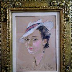 Arte: DIBUJO XX MARCO PAN DE ORO.. Lote 192252938