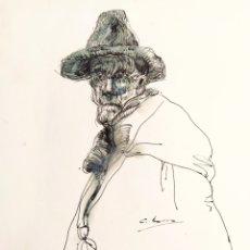 Art: NACHO COSTA BEIRO (NOIA, 1953) - ORIGINAL - PLUMILLA SOBRE PAPEL - ABSTRACCIÓN. Lote 192346493