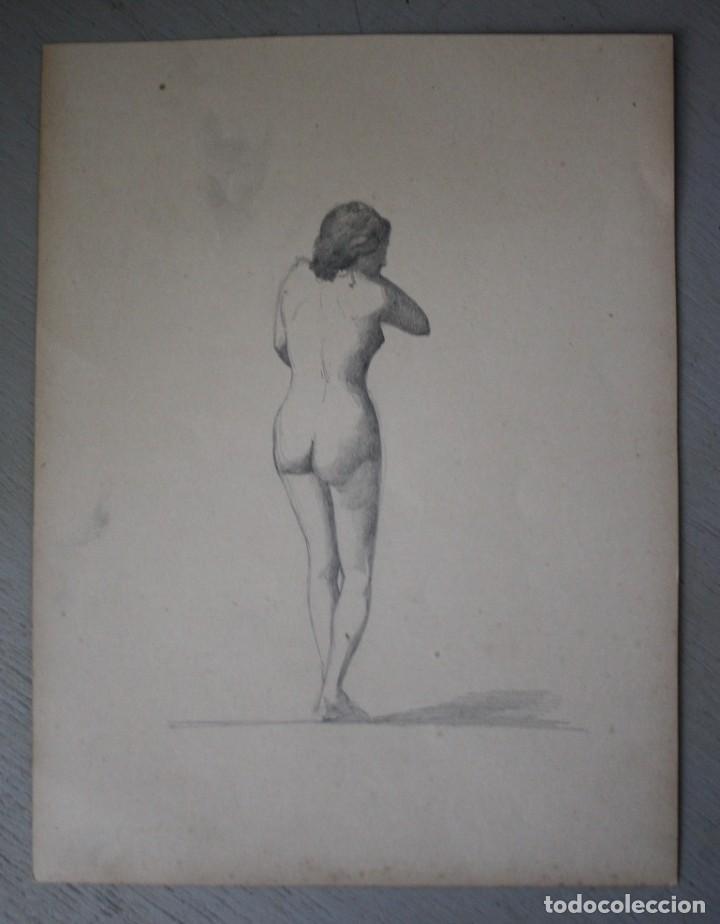 BOCETO ORIGINAL DE JOAQUÍN AGRASOT, ORIHUELA, 24-12-1836 VALENCIA 8-01-1914 PROCEDENCIA FAMILIAR (Arte - Dibujos - Modernos siglo XIX)