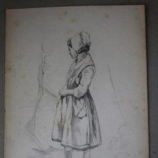 Arte: BOCETO ORIGINAL DE JOAQUÍN AGRASOT, ORHUELA, 24-12-1836 VALENCIA 8-01-1914 PROCEDENCIA FAMILIAR. Lote 192621010