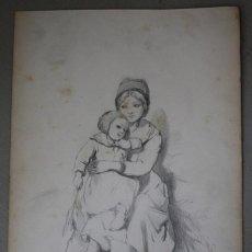 Arte: BOCETO ORIGINAL DE JOAQUÍN AGRASOT, ORIHUELA, 24-12-1836 VALENCIA 8-01-1914 PROCEDENCIA FAMILIAR. Lote 192623471