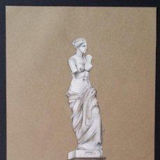 Arte: VENUS DE MILO, DIBUJO DE 1862 FIRMADO.. Lote 192630827