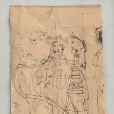 Arte: ANTONI CLAVÉ - DIBUJO TINTA SOBRE PAPEL - 1945. Lote 192897355