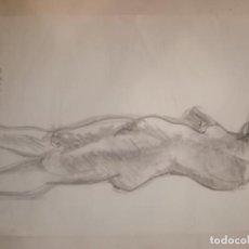Arte: LOTE DE 11DIBUJOS CARBONCILLO M. GARCES. Lote 192988675