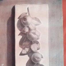 Arte: DIBUJO ACADÉMICO ANTIGUO DE 1932-1933 FIRMADO Y DATADO. Lote 193274271