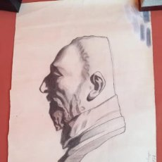 Arte: DIBUJO ACADÉMICO ANTIGUO DE 1932-1933 FIRMADO Y DATADO. Lote 193274506