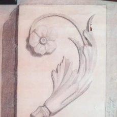 Arte: DIBUJO ACADÉMICO ANTIGUO DE 1932-1933 FIRMADO Y DATADO. Lote 193274578